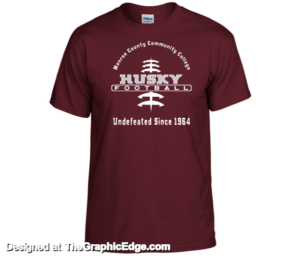 Front side of the Intramural Sport Club T-shirt
